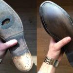До и после замены подошвы